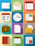 Scénographie plate d'icônes d'affaires Images libres de droits