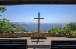 SC al aire libre cruzado de Mountain View el condado de Greenville de la capilla Fotos de archivo