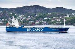 Sc ASTREA van het ro/roschip van overzees-Lading Skips ALS uitgaand Bergen, Noorwegen Stock Afbeelding
