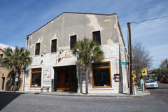 SC de Charleston del restaurante de Hank de la opinión de la calle Fotografía de archivo