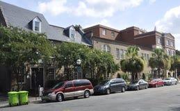 SC de Charleston, el 7 de agosto: Opinión de la calle de Charleston en Carolina del Sur Fotos de archivo libres de regalías