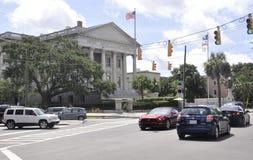 SC de Charleston, el 7 de agosto: U S Calle de aduanas de Charleston en Carolina del Sur Fotos de archivo libres de regalías