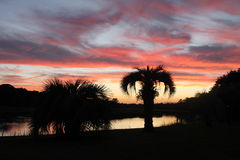 Sc dell'isola di Johns di tramonto Fotografia Stock Libera da Diritti