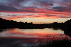 Sc dell'isola di Johns di tramonto Fotografia Stock