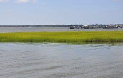 Sc di Charleston, il 7 agosto: Bottaio River Landscape da Charleston in Carolina del Sud fotografia stock