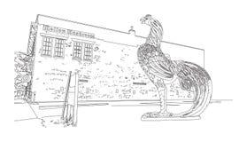 Sc di Colombia, gallo da combattimento - simbolo di USC Immagini Stock Libere da Diritti