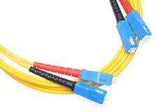 Sc för typ för optiska kablar för fiber Fotografering för Bildbyråer