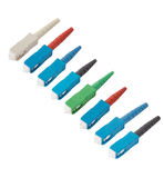 SC fiber optic connectors isolated Stock Photos