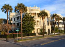 SC histórico de Charleston de la casa de Porcher-Simonds Fotos de archivo libres de regalías