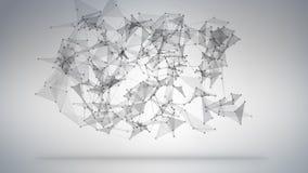 sc.i-FI abstract de technologieconcept van de netwerkvorm Royalty-vrije Stock Afbeeldingen