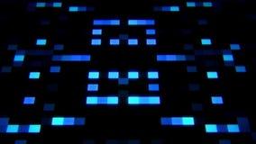 sc.i-FI de Blauwe Kunstmatige intelligentieai Achtergrond van Vierkantenloopable