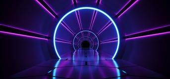 sc.i-FI Futuristisch Abstract Gradiënt Blauw Purper Roze Neon Glowin stock illustratie