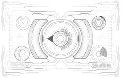 sc.i-FI Futuristisch Gloeiend HUD Display Het de Technologiescherm van de Vitrualwerkelijkheid vector illustratie