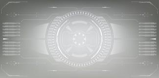 sc.i-FI Futuristisch Gloeiend HUD Display Het de Technologiescherm van de Vitrualwerkelijkheid stock illustratie