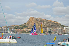 Sailing Yachts -  Ladies Team SCA And Abu Dhabi Ocean Racing Royalty Free Stock Image