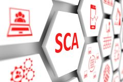 SCA concept. Cell blurred background 3d illustration Royalty Free Stock Photography