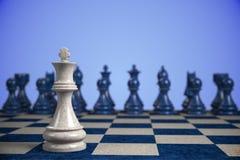 Scacchi: concorrenza Immagine Stock