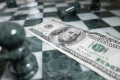 Scacchi dei soldi Fotografia Stock Libera da Diritti