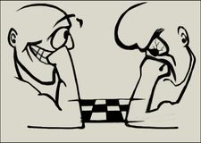 Scacchi del gioco di due uomini royalty illustrazione gratis