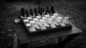 Scacchi di Black&White Fotografia Stock