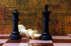 Scacchi e concetto dell'alloggio Immagine Stock