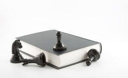 Scacchi e libro Immagini Stock Libere da Diritti