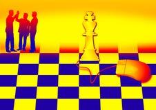 Scacchi e mouse Fotografia Stock Libera da Diritti
