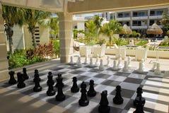 scacchi esterni Fotografia Stock