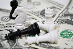 Scacchi finanziari fotografia stock