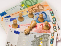 Scacchi finanziari Immagine Stock