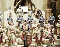 Scacchi medioevali Fotografie Stock Libere da Diritti