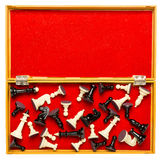 Scacchi nella scatola Fotografie Stock Libere da Diritti
