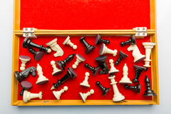 Scacchi nella scatola Fotografia Stock Libera da Diritti
