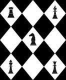 Scacchiera con scacchi Fotografia Stock