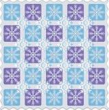 Scacchiera dei fiocchi di neve Reticolo Immagine Stock