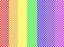 Scacchiera del Rainbow Immagine Stock Libera da Diritti