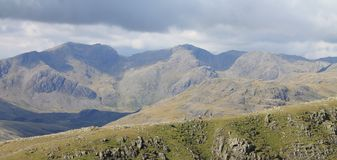 The Scafell Range Panorama Stock Images