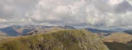 The Scafell Range Panorama Stock Photos