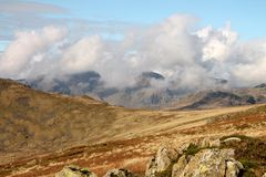 Lake District National Park Cumbria Scafell Range Royalty Free Stock Images