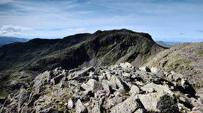 The Scafells fells. Scafell and Scafell Pike from Ill Crag Royalty Free Stock Photography