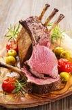 Scaffale arrostito della carne di cervo immagine stock