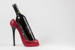 Scaffale del vino della scarpa Fotografie Stock