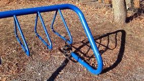 Scaffale della bici Fotografia Stock
