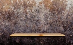 Scaffale di legno Fotografia Stock
