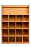Scaffale di legno fotografia stock libera da diritti