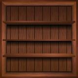 Scaffale di legno in bianco Fotografia Stock