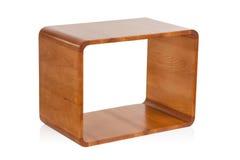 Scaffale di legno isolato Immagine Stock