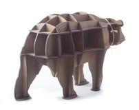 Scaffale di legno sotto forma di orso Immagine Stock