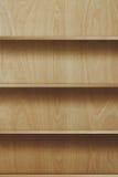 Scaffale di legno vuoto Fotografie Stock