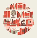 Scaffale di libro Immagine Stock